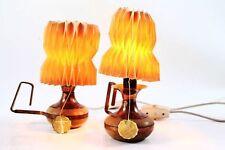 2x schöne 70er Jahre Lampe Leuchte Schreibtisch Tischlampe Papier Tütenlampe