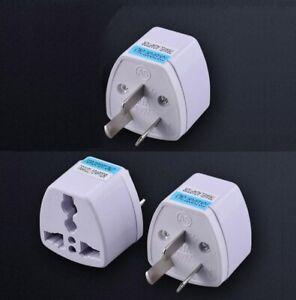 3pcs Grounded Universal AC Power Adapter Type I Plug for Australia New Zealand