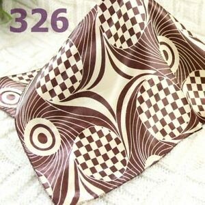 Vintage Elegant Designs Silk Satin Feel Ladies Small Square Head/Neck Scarf 326