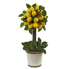 NEW LEMON TREE BALL TOPIARY ARRANGEMENT IN DECOR POT, 18 IN. ARTIFICIAL FRUIT