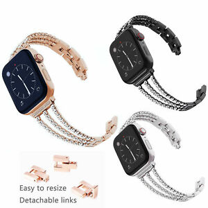 Bling Diamonds Band For Apple Watch Series 6 5 4 3 Strap Stainless Steel Bangle