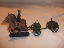 x3 Konvolut Blechspielzeug Massefigur Pferd Lineol Elastolin Wehrmacht 2. Wk