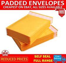 More details for gold padded bubble envelopes bags postal wrap - all sizes - various quantites