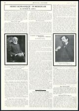 1918 Henry Schradieck Claude Deburry photo death memorial vintage print article