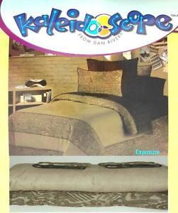 KALEIDOSCOPE EXPOSURE TAUPE FULL COMFORTER SHEETS SHAMS 7PC BEDDING SET NEW