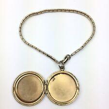 Vintage Signed REINAD Goldtone Womans Bracelet With Locket Charm