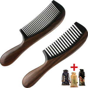 Premium Hair Combs Wood Comb Horn Guibourtia Handcrafted Sturdy Smooth No Static