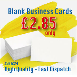 100 Blank Business Cards 350GSM Premium Weight FAST Despatch