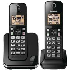 Panasonic Expandable Cordless Phone With Amber Backlit Display, 2 Handset *Great