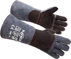 Animal Handling Gloves Bite Proof Kevlar Reinforced Leather Padding Dog Cat