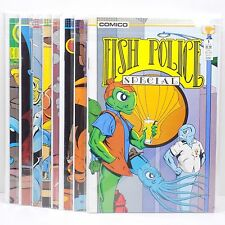 Fish Police Comic Lot Of 8 Books Special Issue #1 & 11-17 Fishwrap Comico Vtg