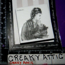 VINTAGE DRESSED WOMAN THINKING FOAM RUBBER STAMPS LABLANCHE #1352 NIP