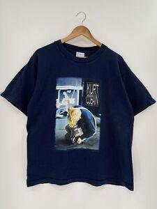 2000 KURT COBAIN Nirvana Size L Vintage Music Rock T-shirt/S51