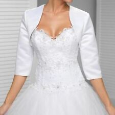 Custom made White In the sleeve wedding jacket New Arrival satin bolero jackets