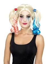 80073 / 4 Suicide Harley Damen Perücke Karneval Halloween Squad Quinn Kostüm