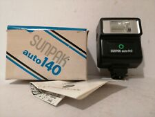 Vintage Electronic Flash Unit Camera Sunpak Auto 140 boxed