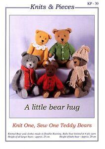 KP-30 A Little bear Hug (knit1 sew1)  KNITTING & SEWING PATTERN