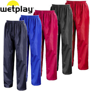 CHILDRENS WATERPROOF OVER TROUSERS 2-13yrs CHILDS KIDS BOYS GIRLS RAINWEAR RAIN