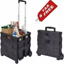 Collapsible Folding Rolling Smart Cart With Wheels For Groceries Shopping NEW