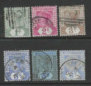 BRITISH HONDURAS 1891 QUEEN VICTORIA DEFINITIVES SG51-56 - GOOD USED