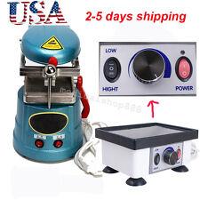 US Dental Vacuum Forming Former Molding heat Lab equipment+ Vibrator Oscillator