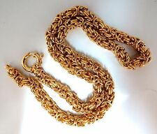 18kt Gold Byzantine Link Necklace 18 inch Toggle Clasp