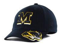 Missouri Tigers Black Flex Fit cap Top of the World NCAA hat one size fits most