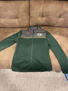 Women's NFL Team Apparel TX3 Warm Green Bay Packers Zip Up Fleece Jacket NWOT