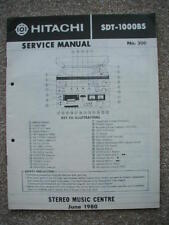 service manual for Hitachi SDT-1000BS