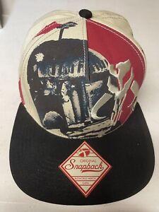 Star Wars Boba Fett Mandalorian Mythosaur Skull Snapback Cap Hat Bioworld GUC