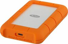 LaCie - Rugged 5TB External USB-C Portable Hard Drive - Orange/Silver