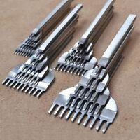 10Locher 1+2+4+6 Prong Nähen Punch Tool 3/4/5/6mm Leder Handwerk Werkzeuge MG3