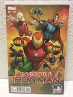 Invincible IRON MAN 10th Anniversary NYCC VARIANT 2015 HIGH GRADE UNREAD
