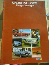 Vauxhall Opel range brochure Mar/Apr 1983 Monza, Manta, Carlton, Astra