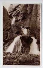 (La1215-376) Real Photo of The Triple Fall, Gordale Scar, c1930-50 Unused G-VG