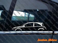 2x car silhouette stickers - for Renault Megane II ,Mk2, 3-DOOR (2002–2009) RS