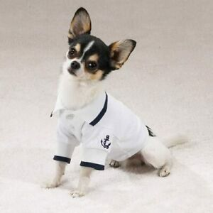 Dog XS X-Small Paw Harbor Polo Sailor Shirt