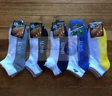12 pairs COTTON Sport Cushion Foot Low Cut Ankle Running Socks Size 6-11Assorted