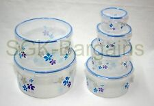 Set of 6 Microwaveable Lock & Fresh Air Tight  Food Storage Box Container BLUE