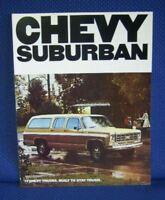 1977 Chevrolet SUBURBAN Truck Sales Catalog Brochure - MINT New Old Stock