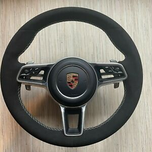 Porsche Macan 911 Carrera Cayenne 17 Alcantara Steering Wheel BLACK with PDK 🚗