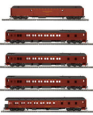 HO MTH Pennsylvania 5 Car Heavyweight Passenger Set for 2 Rail Track 80-40001