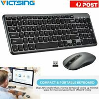 Wireless Keyboard and Cordless Optical Mouse for PC Laptop Win7/8/10/XP Slim AU