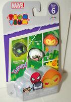 Marvel Comics Tsum Tsum Series #6 Pack 3 New MIP Spider-Man Black Cat Hobgoblin
