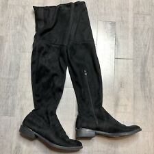 Simply Vera Wang over the knee black suede boots