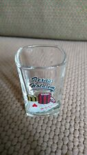 "Unique!! TEXAS HOLD'EM SQUARE SHOT GLASS Heavy Lead Glass 2""W 3""T Embossed"