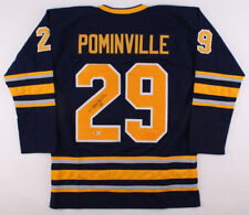 Jason Pominville Signed  Sabres Jersey (Beckett COA) Playing career 2002–present