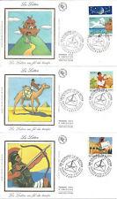 1998 - 6 ENVELOPPES 1er JOUR - N° 3150 à 3155 - JOURNEES de la LETTRE - 2 SCANS