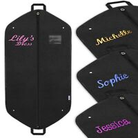 Personalised Garment Bag Embroidered Dress Suit Prom Costume Cover Ideal Gifts