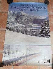 """affiche SNCF """"découvrez l'Allemagne fédérale par le train""""  D.B."""